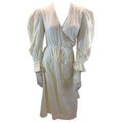 Rhode Cream Cotton Wrap Dress NWT