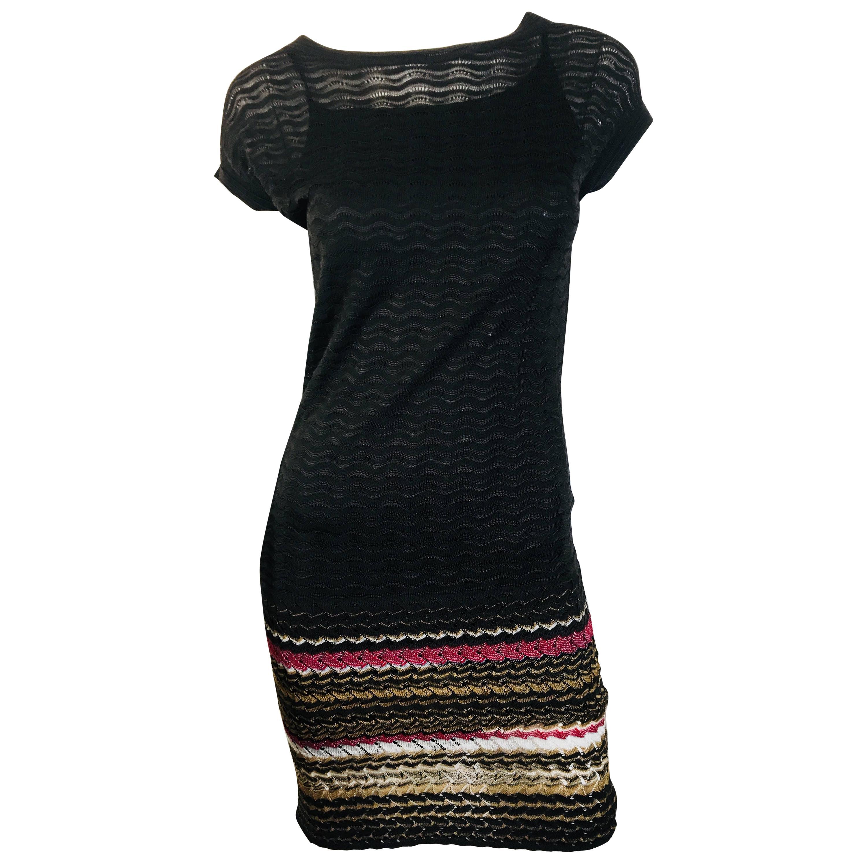 9adf703be0c Missoni Signature Print Color Block Knit Dress at 1stdibs