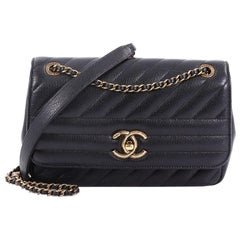 Chanel CC Flap Bag Diagonal Quilted Goatskin Small