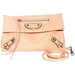 "Balenciaga Peach Pebble Leather ""City"""