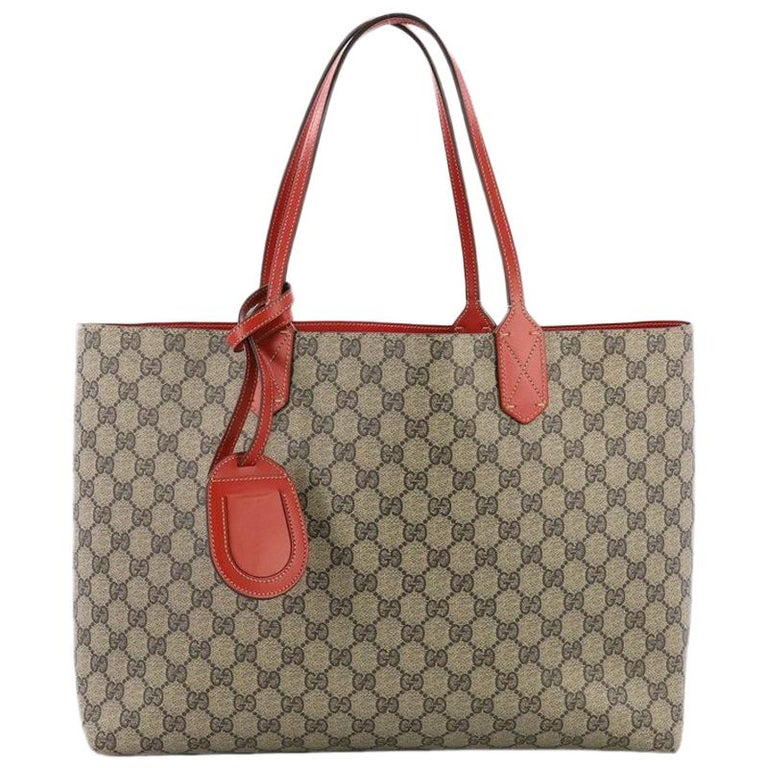 ad673c1cb Gucci Reversible Tote GG Print Leather Medium at 1stdibs