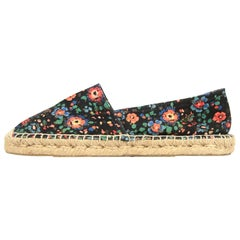 Isabel Marant Floral Print Canvas Espadrilles Shoes Sz 38