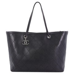 Chanel Fever Tote Quilted Caviar Large