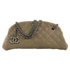 Chanel Just Mademoiselle Handbag Quilted Calfskin Small