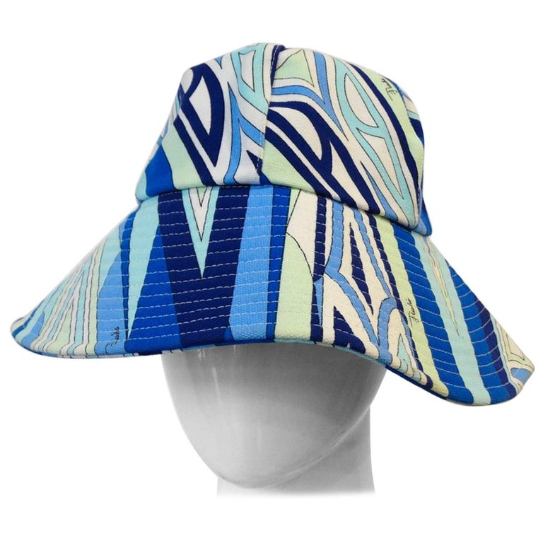 79d1ef3da25 1990s Emilio Pucci Abstract Motif Cotton Bucket Hat For Sale at 1stdibs