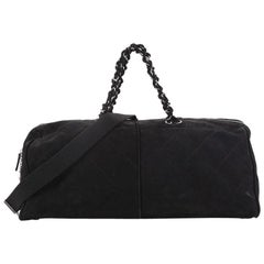 Chanel Ultimate Stitch Weekender Quilted Nubuck