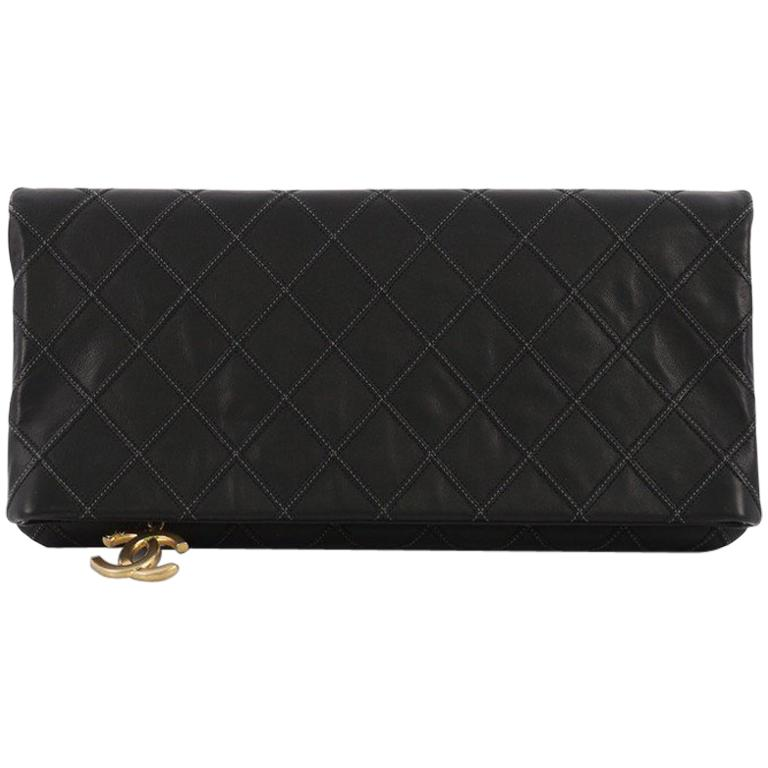 0576192f9dae Chanel Thin City Clutch Quilted Calfskin Large For Sale at 1stdibs