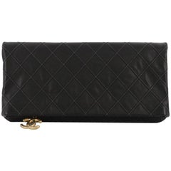 Chanel Thin City Clutch Quilted Calfskin Large