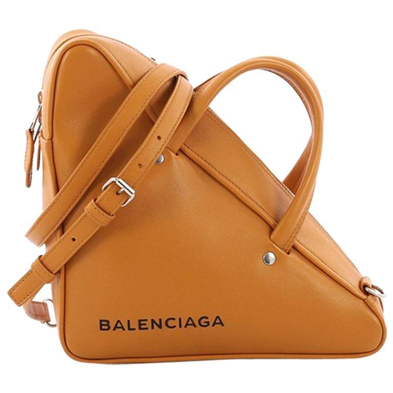 1da261e2d344e Balenciaga Triangle Duffle Bag Leather Small For Sale at 1stdibs