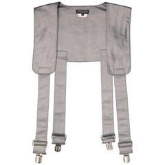 COMME des GARCONS Size M Grey Polyester / Silk Suspender Harness