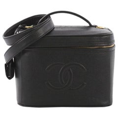 Chanel Vintage Timeless Vanity Case Caviar Small