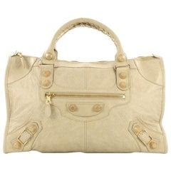 Balenciaga Work Giant Studs Handbag Leather
