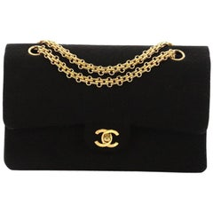 Chanel Vintage Reissue Chain Double Flap Bag Quilted Jersey Medium