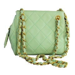 Vintage Chanel Mint Green Mini Bag
