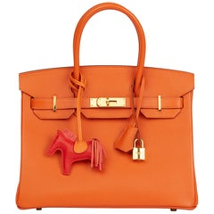 2004 Hermès Orange H Epsom Leather Birkin 30cm