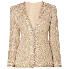 Yves Saint Laurent Haute couture ivory jacket, Autumn/Winter 1974