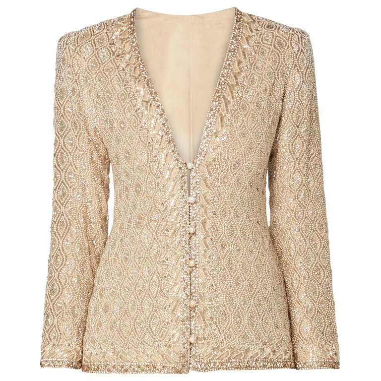 Yves Saint Laurent Haute couture ivory jacket, Autumn/Winter 1974 For Sale