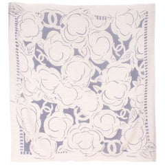 Chanel Logo-Print Silk and Cashmere-Blend Scarf