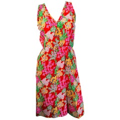 Yves Saint Laurent Floral Sheath Dress