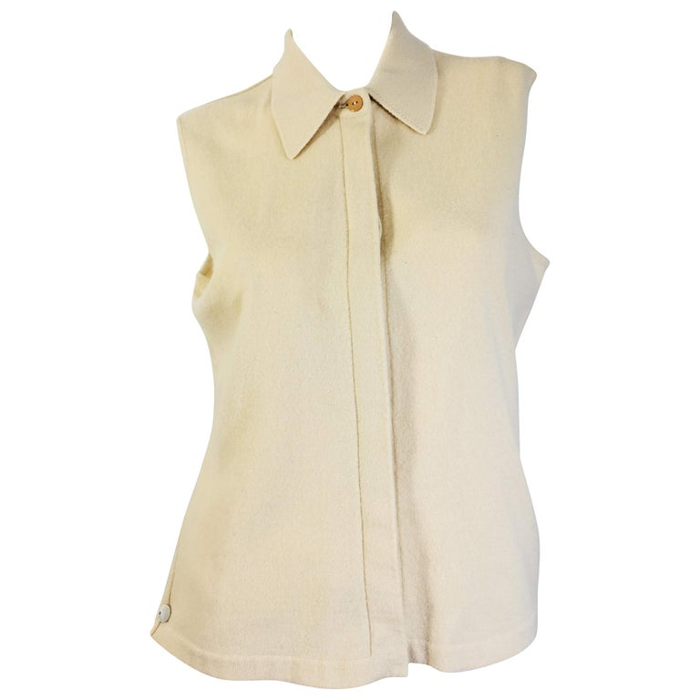 Chanel Cashmere Tank Top For Sale