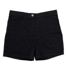 Chanel Black High- waisted Shorts 0-2