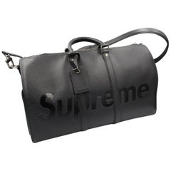 Louis Vuitton by Supreme Black Epi Leather Keepall