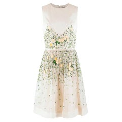 Temperley London floral-embroidered sleeveless silk dress US 8