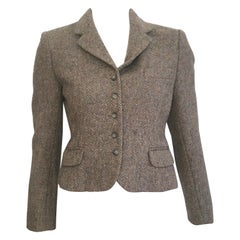 Pierre Cardin for Bloomingdale's 1960s Wool Cropped Jacket Size 4.