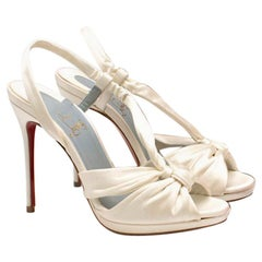 Christian Louboutin So Liz 110mm off-white sandals US 5