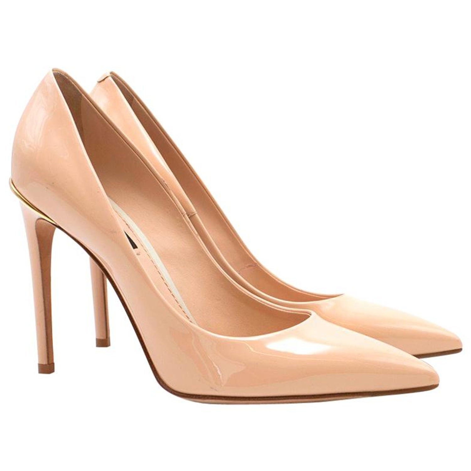 c8cb29f1ff8df Louis Vuitton Nude Patent Leather First Lady Pumps US 7.5 at 1stdibs