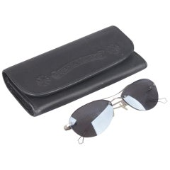 2f64e39c167 Chrome Hearts Rimless Silver Metal Mint Sunglasses with Case