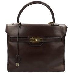 60's Vintage Hemes Monaco 28 in Brown Chocolate Box Leather