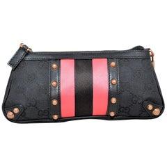 Gucci Monogram Pochette Bag with Bamboo Chain Handle