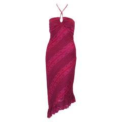 Phillip Lim Fuschia Asymmetric Lace Dress