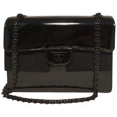 Chanel Black on Black Patent Leather Classic Flap Shoulder Bag