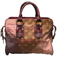 LOUIS VUITTON Lmt Edt Richard Prince Graduate Monogram Mancrazy Jokes Tote Bag