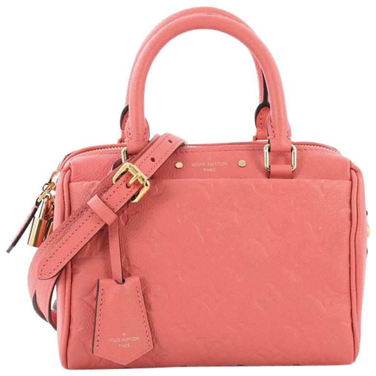 c5f340d0f737 Louis Vuitton Speedy Bandouliere NM Handbag Monogram Empreinte Leather 20  For Sale