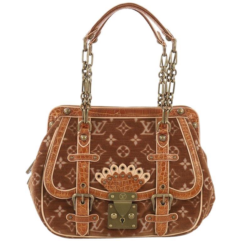 0ffa2ec9e4f85 Louis Vuitton Gracie Handbag Monogram Velour and Alligator MM bei ...