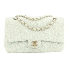 e43165279cc946 Chanel Vintage Classic Double Flap Bag Quilted Tweed Medium