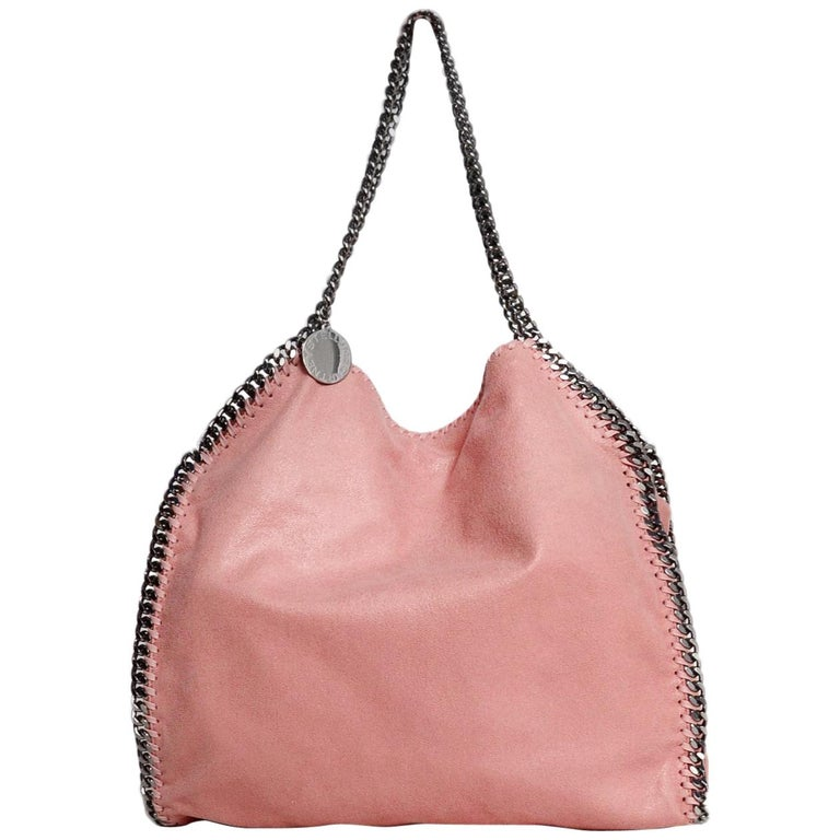 Stella McCartney Rose Pink Vegan Sueded Leather Small Falabella Shaggy Deer  Tote For Sale at 1stdibs 453106ed0adcd