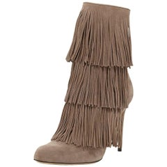 Paul Andrew Taos Fringed Suede Ankle Boots