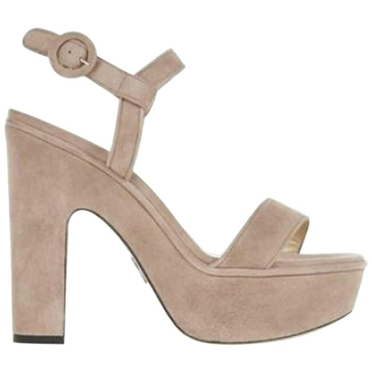 Paul Andrew Stanton Suede Platform Sandals  For Sale