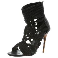 Balmain Woven Rope Sandals