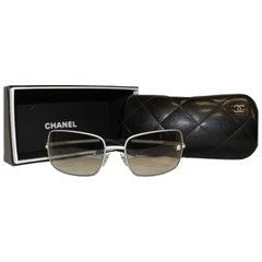 Chanel Grey Gradient Metal Frame Sunglasses