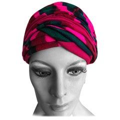 Christian Dior Chapeaux Colorful 60's Turban