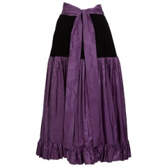 Yves Saint Laurent Skirt Russian Collection Purple Skirt YSL, 1970s