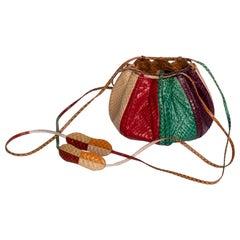 Judith Leiber  Multicolored Snakskin Beach Ball Shoulder Bag, 1980s