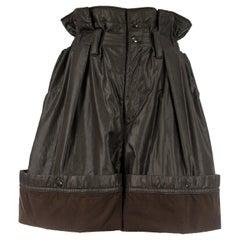 Issey Miyake olive nylon parachute shorts, ca. 1983