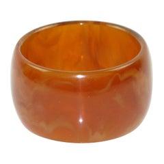 Oversized Bakelite Bracelet Bangle Red Tea Amber