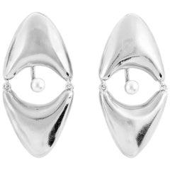 Giulia Barela Fine Silver Brancusi Earrings